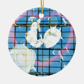 With dance 妓 a so bo 15 ceramic ornament
