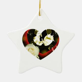 With dance 妓 a so bo 3 ceramic ornament