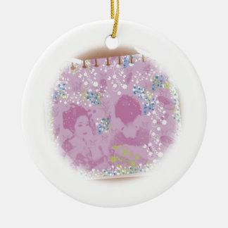 With dance 妓 a so bo 7 ceramic ornament