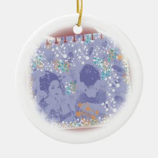 With dance 妓 a so bo 9 ceramic ornament