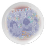 With dance 妓 a so bo 9 dinner plate