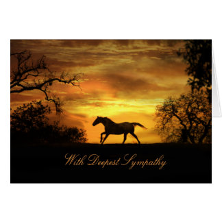 With Deepest Sympathy Horse Sympathy Card