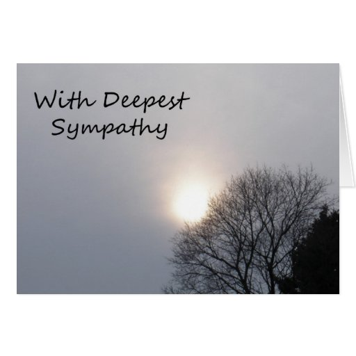 With Deepest Sympathy - Light Card