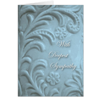 With Deepest Sympathy, Plant Forms in Blue Card