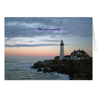 With deepest sympathy, sentinal at sunset card
