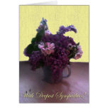 With Deepest Sympaties! Greeting Card