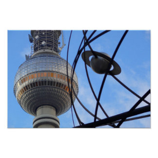 "WITH detalle of World "" Berlín TV Tower ""Programa  Póster"