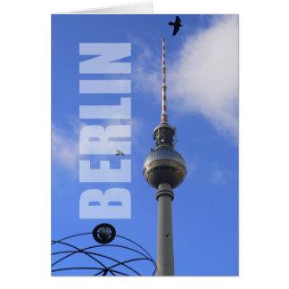"""WITH detalle of World """" Berlín TV Tower """"Programa  Tarjeta De Felicitación"""