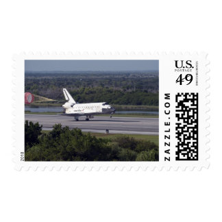 With drag chute unfurled 2 stamp