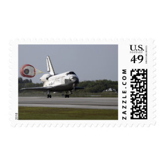 With drag chute unfurled stamps