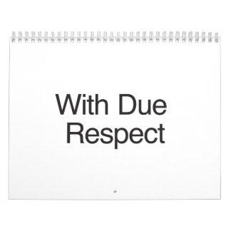 With Due Respect.ai Calendar