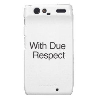 With Due Respect Droid RAZR Cases