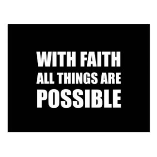 With Faith All Things Postcard