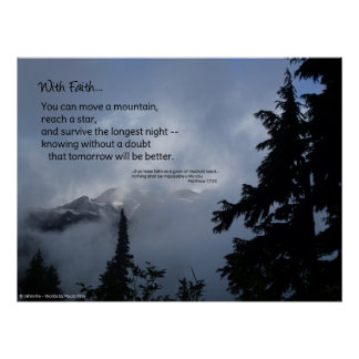 With Faith...inspirational poster