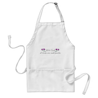 With God all things are made possible Adult Apron