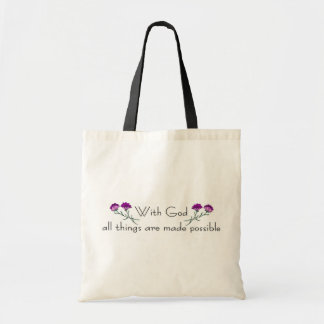 With God all things are made possible Canvas Bags