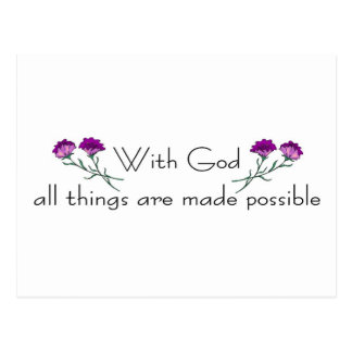 With God all things are made possible Postcard