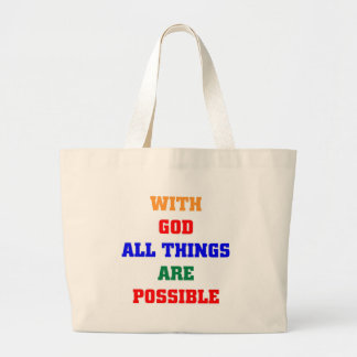 With God all things are possible Canvas Bag