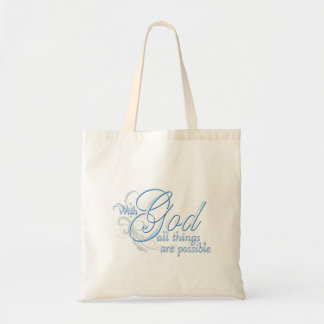 With God All Things are Possible Bags