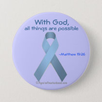 With God all things are possible Blue Ribbon Button