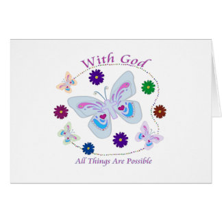 With God All Things are possible Cards