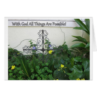 With God all Things Are Possible Greeting Cards