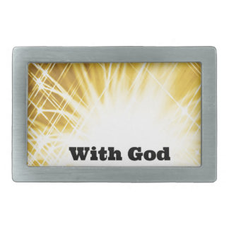 with God all things are possible.jpg Belt Buckles