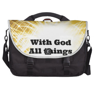 with God all things are possible jpg Commuter Bags