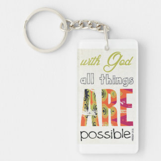 With God all things are possible Keychain