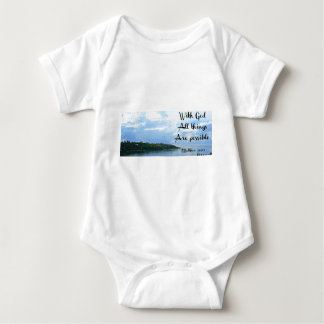 With God all things are possible. Matthew 19:26 Baby Bodysuit