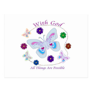 With God All Things are possible Postcard