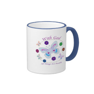 With God All Things Are Possible Ringer Mug