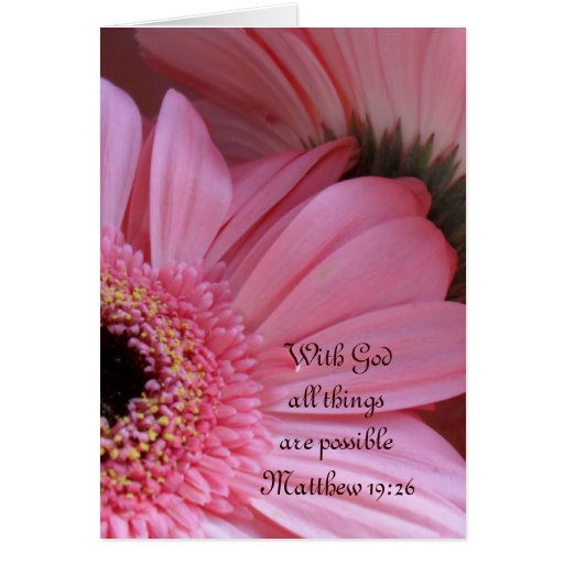 """""""With God all things are possible"""" Scripture Note Stationery Note Card"""