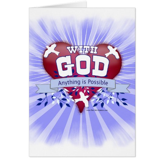 With God Anything is Possible Card