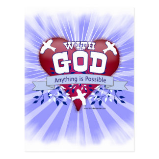With God Anything is Possible Postcard