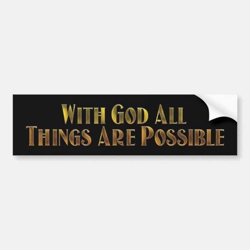 With God Car Bumper Sticker