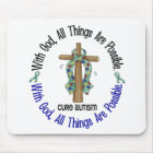WITH GOD CROSS AUTISM T-Shirts & Gifts Mouse Pad