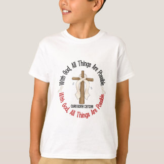 WITH GOD CROSS Bone Cancer T-Shirts & Gifts