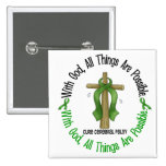 WITH GOD CROSS Cerebral Palsy T-Shirts & Gifts Pin