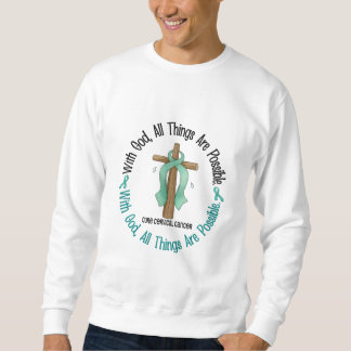 WITH GOD CROSS Cervical Cancer T-Shirts & Gifts