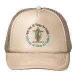 WITH GOD CROSS Cervical Cancer T-Shirts & Gifts Mesh Hat
