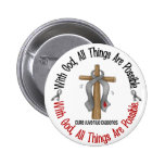 WITH GOD CROSS Juvenile Diabetes T-Shirts & Gifts Button