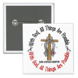 WITH GOD CROSS Juvenile Diabetes T-Shirts & Gifts Pinback Button