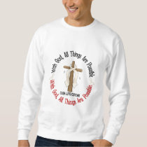 WITH GOD CROSS Lung Cancer T-Shirts & Gifts