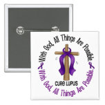 WITH GOD CROSS Lupus T-Shirts & Gifts Pin