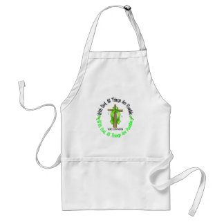 WITH GOD CROSS Non-Hodgkin's Lymphoma T-Shirts Adult Apron