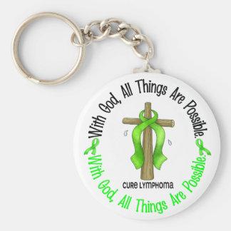 WITH GOD CROSS Non-Hodgkin's Lymphoma T-Shirts Keychain