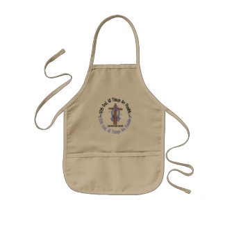 WITH GOD CROSS Prostate Cancer T-Shirts & Gifts Kids' Apron