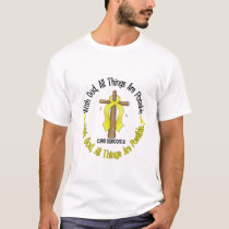 WITH GOD CROSS Sarcoma T-Shirts & Gifts