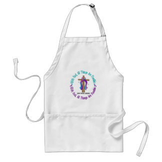 WITH GOD CROSS THYROID DISEASE T-Shirts & Gifts Adult Apron